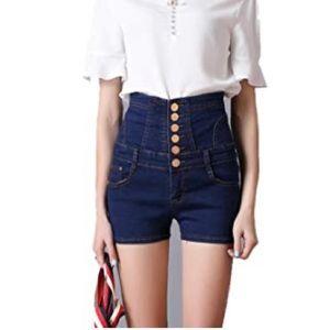 Corset Jean Shorts